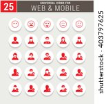 25 red universal icon set.... | Shutterstock .eps vector #403797625