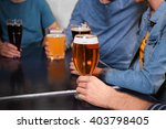 group of young people drinking...   Shutterstock . vector #403798405