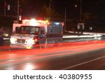 Ambulance Standing In Night...