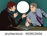 people in retro style pop art...   Shutterstock .eps vector #403813606