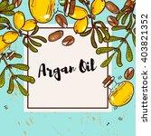 argan banner in eco style in... | Shutterstock .eps vector #403821352
