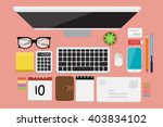 business flat lay | Shutterstock .eps vector #403834102