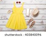 women's clothing for summer... | Shutterstock . vector #403840096