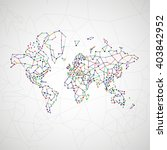 technology image of globe. the...   Shutterstock . vector #403842952