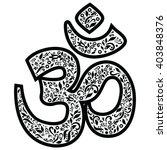 om sign  representing god ... | Shutterstock .eps vector #403848376