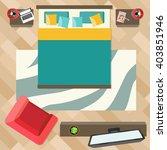 bedroom with furniture  top... | Shutterstock .eps vector #403851946