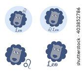 leo cartoon character set. sign ... | Shutterstock .eps vector #403852786