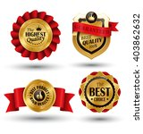 golden premium quality red best ... | Shutterstock .eps vector #403862632