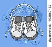 foot wear sneakers shoes... | Shutterstock .eps vector #403867432