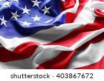 Small photo of Flag of United States of America closeup