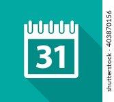 calendar icon with long shadow. ... | Shutterstock .eps vector #403870156
