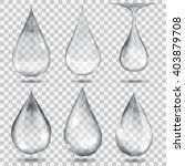 set of transparent drops in... | Shutterstock .eps vector #403879708