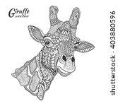 giraffe. hand drawn stylized... | Shutterstock .eps vector #403880596