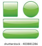 collection of glossy buttons in ... | Shutterstock . vector #403881286