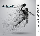basketball particles. text and... | Shutterstock .eps vector #403883146