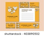 Stock vector vector logo for a pet store veterinary pet shop animal care corporate identity vector templates 403890502
