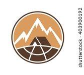 mountain adventure label.... | Shutterstock .eps vector #403900192