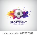 vector logo for football teams... | Shutterstock .eps vector #403902682