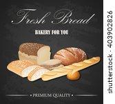 vector decorative fresh bread...   Shutterstock .eps vector #403902826