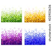 set of abstract colorful mosaic ... | Shutterstock .eps vector #403903636