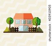 building front  design  | Shutterstock .eps vector #403910905
