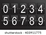mechanical  panel  retro number. | Shutterstock . vector #403911775