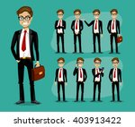 man in a business style. set of ... | Shutterstock .eps vector #403913422