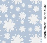 flowers and snowflakes seamless ... | Shutterstock .eps vector #403916032