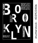 new york typography  t shirt... | Shutterstock .eps vector #403923406