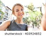 portrait of beautiful teenager...   Shutterstock . vector #403924852