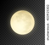 realistic deatailed full moon... | Shutterstock .eps vector #403925302