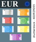 colorful euro banknotes. flat... | Shutterstock .eps vector #403929055