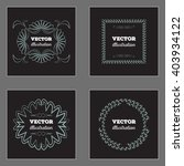 retro vintage insignias or...   Shutterstock .eps vector #403934122