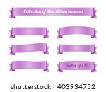 set of lilac violet ribbon... | Shutterstock .eps vector #403934752