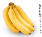 Bunch Of Bananas Isolated On...