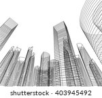 architectural background. 3d... | Shutterstock .eps vector #403945492