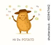 illustration with funny... | Shutterstock .eps vector #403947442