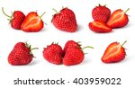 Set Of Strawberries. Isolated...