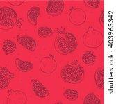 pomegranate seamless pattern   Shutterstock .eps vector #403963342