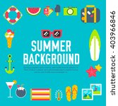 summer flat icons vector items... | Shutterstock .eps vector #403966846