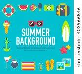 Summer Icon. Summer Concept....