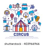 premium quality circus outline... | Shutterstock .eps vector #403966966