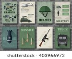 cards of military equipment... | Shutterstock .eps vector #403966972
