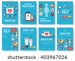 medicine information cards set. ... | Shutterstock .eps vector #403967026