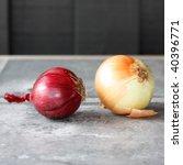 onions in an outdoor kitchen   Shutterstock . vector #40396771