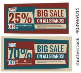 sale voucher coupon banner... | Shutterstock .eps vector #403969015