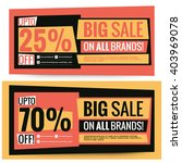 sale voucher coupon banner... | Shutterstock .eps vector #403969078