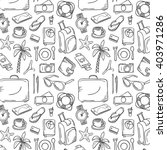 hand drawn travel pattern.... | Shutterstock .eps vector #403971286