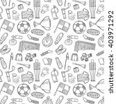 sports pattern with soccer... | Shutterstock .eps vector #403971292