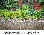 old hardwood decking or... | Shutterstock . vector #403975975